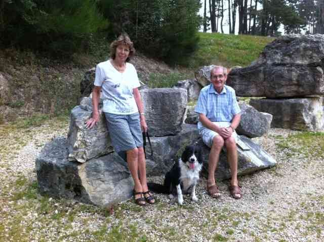 Irene, Charlie & Jade, enjoying a Geoscope in France, on their way from Ciudad Quesada in Alicante to Scotland.