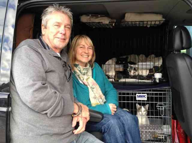 Kev, Alison, Daisy, Jack and Eddie, on their journey from Sheffield to their new home in Orihuela in Spain.