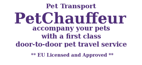 Pet Transport, Petchauffeur, accompany your pets with a first class door-to-door travel service